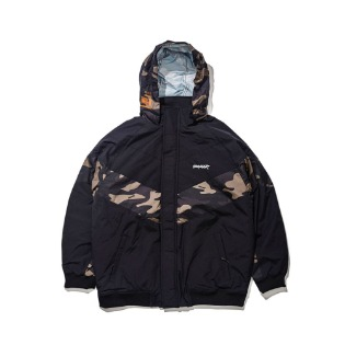 1920 비에스래빗 BSR MIGHT JACKET CAMO BLACK 보드복