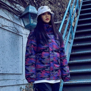 1920 비에스래빗 BSR DUCK DOWN PARKA PURPLE CAMO
