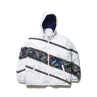 1920 비에스래빗 DIAGONAL LINE PADDING JACKET WHITE