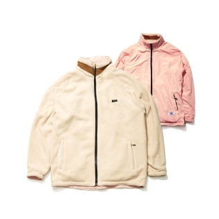 1920 비에스래빗 TOASTY FLEECE REVERSIBLE JACKET IVORY/BABY PINK