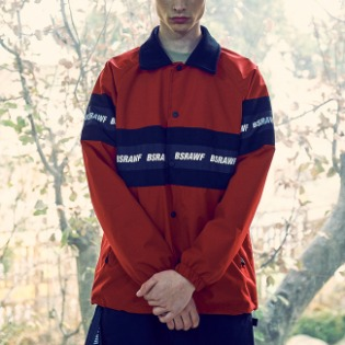 1920 비에스래빗 BSRAWF LINE COACH JACKET RED