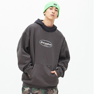 1819 DIMITO CIRCLE LOGO WIDE HOODIE_CHARCOAL