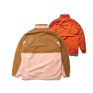 1920 비에스래빗  TOASTY FLEECE REVERSIBLE JACKET BEIGE/CHERRY RED