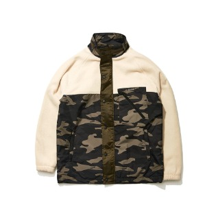1920 비에스래빗 SENSUAL FLEECE JACKET CAMO