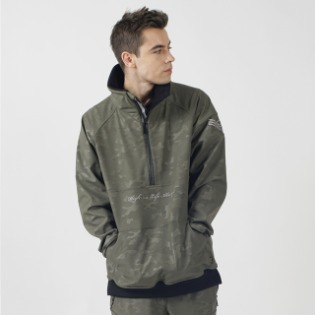 1920 홀라 HOLA UNIQUE W.R HALF ZIP UP KHAKI 보드자켓