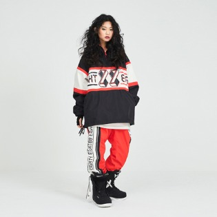 1819 lucky pants red / 88 럭키 보드복팬츠 레드