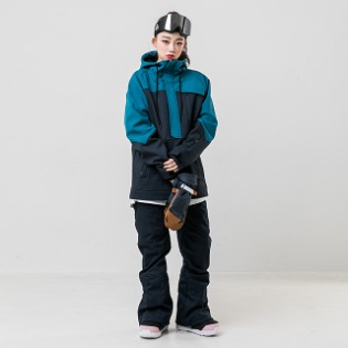 19/20 INSTAY WITH ANORAK JACKET TEAL 인스테이 남자여자공용 스노우보드복 아노락자켓