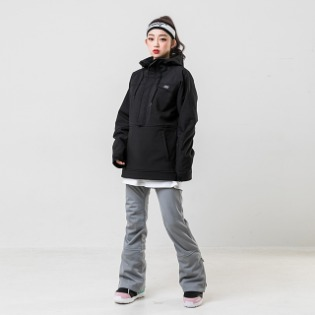 19/20 INSTAY WITH ANORAK JACKET BLACK 남자여자공용 스노우보드복 아노락자켓