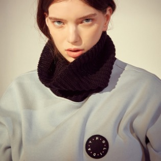 1920 홀리데이 KNIT TURTLE neck waterblue 보드복 티