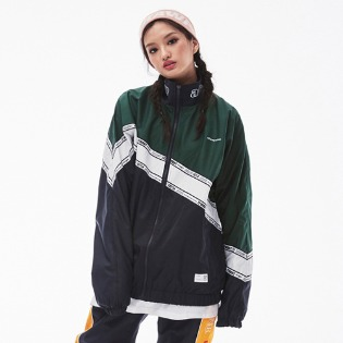 1819 BSRABBIT DIAGONAL LINE TRACK JACKET NAVY