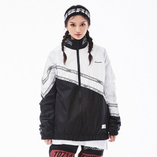 1819 BSRABBIT DIAGONAL LINE TRACK JACKET BLACK