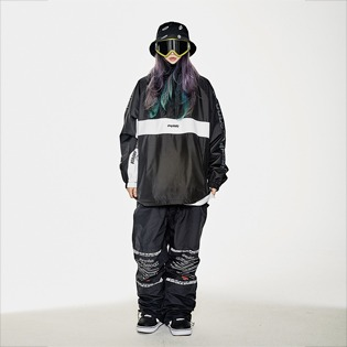1920 비에스래빗 BSR RUN ANORAK BLACK