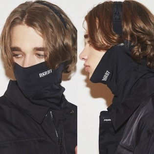 2021 BSRBT V-LINE INNER POCKETLOGO BAND BALACLAVA BLACK [ No.2 ]