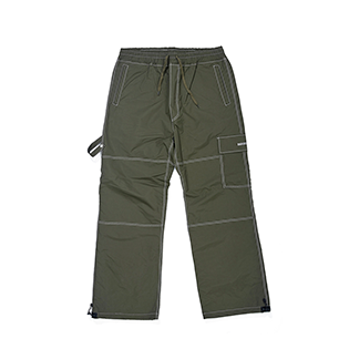 2021  BSRABBIT STITCHES ONE POCKET TRACK PANTS OLIVE
