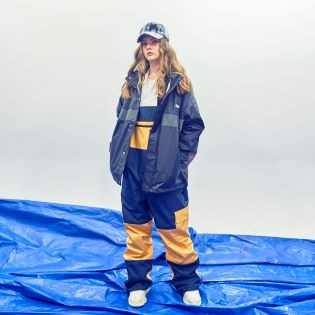 2021 BSR SHINE BIB PANTS NAVY