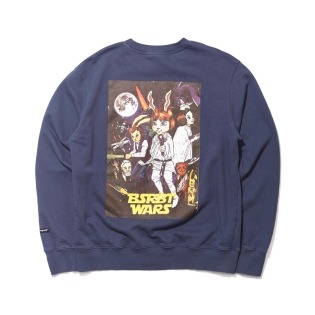 2021 비에스래빗 RABBIT WARS WELCOME DRY SWEAT SHIRT NAVY