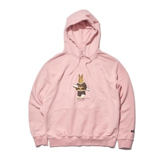 2021 비에스래빗 ALWAYS BEAR RABBIT WELCOME DRY HOODIE INDY PINK