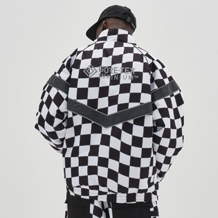 2021 (DIMITO X MILLET) DIMITO GTX VARSITY JACKET CHECKER BOARD BLACK
