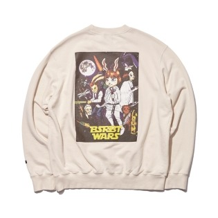 2021 비에스래빗 RABBIT WARS WELCOME DRY SWEAT SHIRT CREAM