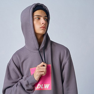 2021 HOLIDAY  IGHT inner hoodie - d.grey