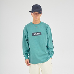 57D TYMAX BOX LOGO ZOOWOOK T DEEP GREEN 큐마일 박스로고 티셔츠 딥그린