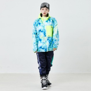 2021 BSRABBIT ROYAL FLEECE JACKET TIE DYE FLUORESCENCE