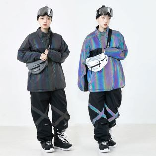 2021 비에스래빗 BSRABBIT POT-X RAINBOW REFLECTIVE JOGGER PANTS 블랙