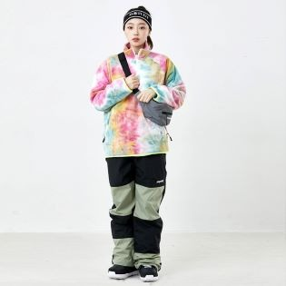 2021 비에스래빗 LOGO FLEECE HN ZIPUP TIE DYE / YELLOW MINT