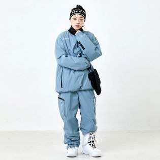 2021 GAFH SHOULDER ZIP UP PULLOVER SMOKE BLUE 가프 숄더 집업 풀오버 스모크 블루