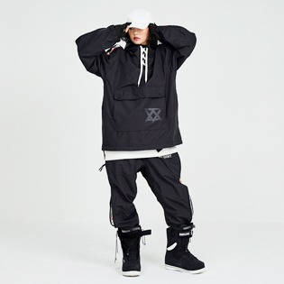 1819 windbreaker ninja jacket black / 88 닌자 자켓 블랙
