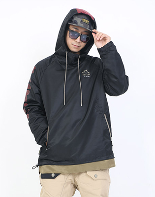 16/17 BUNCH HOOD JACKET * BLACK