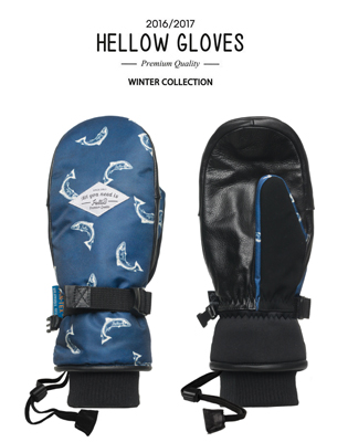 [HELLOW] strap mitt - fish-BLUE