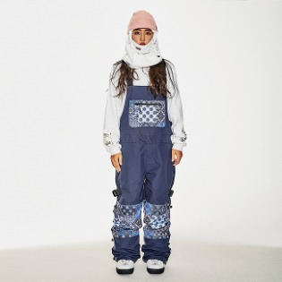 1920 비에스래빗 BSR INCREDIBLE TRANSFORM BIB PANTS PAISLEY NAVY