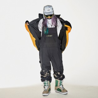 1920 비에스래빗 BSR INCREDIBLE CARGO BIB PANTS BLACK