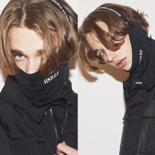 2021 BSRBT V-LINE INNER POCKETLOGO BAND BALACLAVA [BLACK BAND] [ No.2 ]