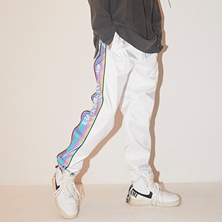 2021 BSRABBIT  WW SHINE JOGGER PANTS WHITE 비에스래빗