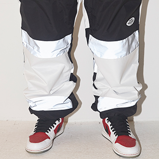 2021 BSRABBIT  BOX DOUBLE LINE REFLECTIVE JOGGER PANTS BLACK