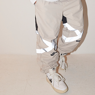 2021BSRABBIT POT-X REFLECTIVE JOGGER PANTS BEIGE