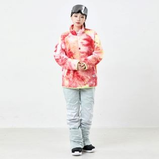 2021 비에스래빗 LOGO FLEECE HN ZIPUP TIE DYE RED / YELLOW