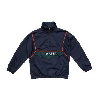 1920 F.I.MAFIAPULL OVER ANORAK JACKET NAVY 에프아이마피아
