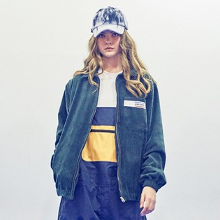 2021 비에스래빗 BSRABBIT CORDUROY COLLAR JACKET GREEN